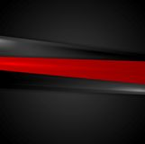 Abstract red black smooth stripes background Royalty Free Stock Photos