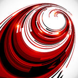 Abstract red and black spiral circles background Royalty Free Stock Photos