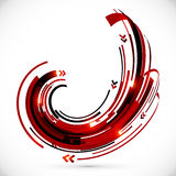 Abstract red and black techno arrows frame Stock Photography