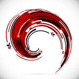 Abstract red and black techno arrows frame Stock Images