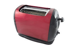 Abstract red and black toaster. Isolated over white Stock Images