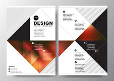 Abstract red black triangle background for minimal Poster Brochure Flyer design Layout vector template in A4 size Stock Image