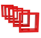 Abstract Red Blocks Royalty Free Stock Image