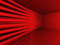 Abstract Red Blocks Wall Background. 3d Render Illustration royalty free illustration
