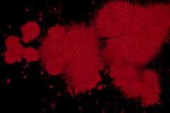 Abstract red blood ink splatter Stock Photo