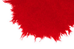 Abstract red blood ink watercolor splatter splash on white background, dangerous horror or medical health care Stock Images
