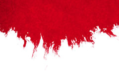 Abstract red blood ink watercolor splatter splash on white background, dangerous horror or medical health care Royalty Free Stock Photos