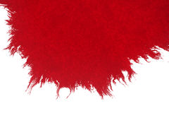 Abstract red blood ink watercolor splatter splash on white background, dangerous horror or medical health care Royalty Free Stock Photo