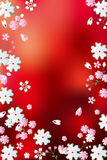 Abstract red blossoms background Stock Photo