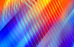 Abstract red and blue background of stripes and spots. Vector. Blurred background. Illustration and decoration. Red, blue and yellow colors on a picture. Oil vector illustration
