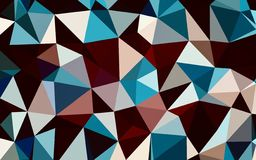 Abstract red blue black white color polygon wallpaper. Abstract red blue black white color polygon background stock illustration