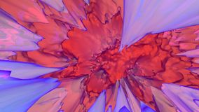 Abstract red and blue futuristic background. 3d rendering computer simulation Royalty Free Stock Images