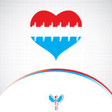 Abstract red blue grid medical Royalty Free Stock Images