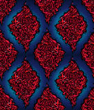 Abstract red and blue seamless pattern. Royalty Free Stock Photography