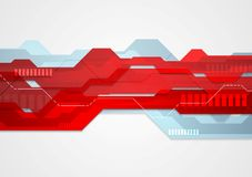 Abstract red blue tech geometric illustration Royalty Free Stock Photos