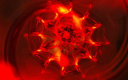 Abstract red blurred scene depicting an fire Royalty Free Stock Image