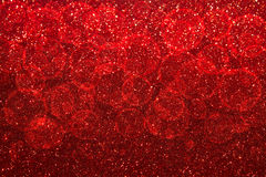 Abstract red Bokeh circles for Christmas background, glitter lig. Ht Defocused and Blurred Bokeh Royalty Free Stock Images