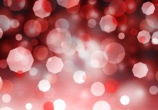 Abstract red bokeh light background with Christmas love royalty free stock images