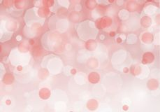 Abstract red bokeh light background with Christmas love stock illustration