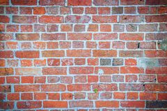 Abstract red brick old wall texture background. Ruins uneven cru. Mbling red brick wall background texture Royalty Free Stock Photos
