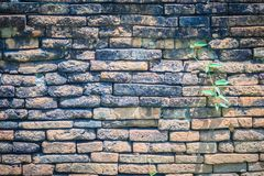 Abstract red brick old wall texture background. Ruins uneven cru. Mbling red brick wall background texture Royalty Free Stock Photography