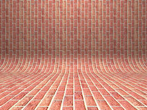 Abstract red brick wall architecture background Stock Images