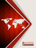 Abstract red brochure with stars and world map Stock Photos