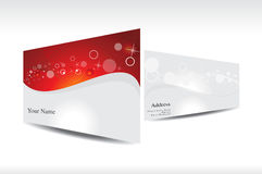 Abstract red business card with stars Royalty Free Stock Photography