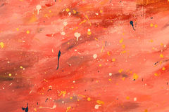 Abstract red canvas painted background Stock Photography