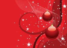 Abstract red christmas background Stock Photo