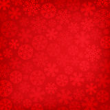 Abstract red christmas background. With snowflakes royalty free illustration