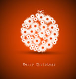 Abstract red christmas decoration Stock Photo