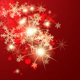 Abstract red christmas greeting card. Royalty Free Stock Photography