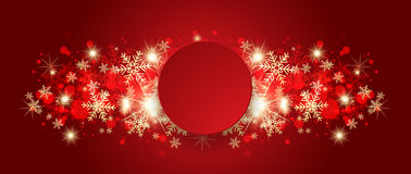 Abstract red christmas greeting card. Stock Image