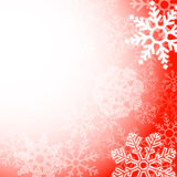 Abstract red christmas snowflakes background Stock Images