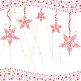 Abstract red christmas star background Royalty Free Stock Photo