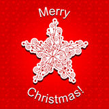 Abstract Red Christmas Star Snowflake Stock Images