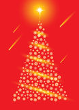 Abstract red christmas tree. Stock Image
