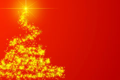 Abstract red christmas tree Royalty Free Stock Images