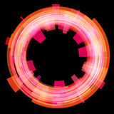 Abstract red circle. Raster. Stock Images