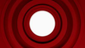 Abstract red circles, 3d animation loop stock footage
