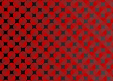 Abstract Seamless Red Circles in Dark Background stock illustration