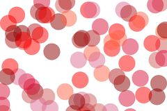 Abstract red circles illustration background. Abstract minimalist red illustration with circles useful as a background royalty free illustration