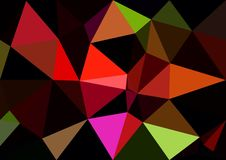 Abstract red  color shiny low poly bokeh wallpaper Royalty Free Stock Photos