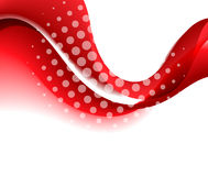 Abstract red color wave design element. Royalty Free Stock Image