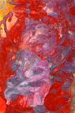 Abstract red colored oil painting Stock Photos