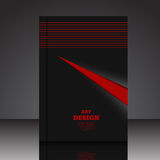 Abstract red composition A4 brochure background  Stock Photography