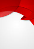 Abstract red corporate wavy flyer design Stock Photography