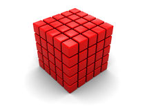 Abstract red cube Royalty Free Stock Photos