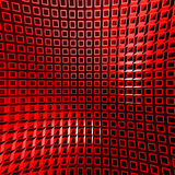 Abstract Red Cube Blocks Wall Background. 3d Render Illustration Royalty Free Stock Images